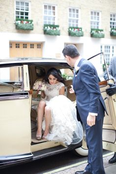 Image by Helen Cawte Photography - A sophisticated modern wedding at Claridges in London with Jenny Packham Esme and a Yolan Cris dress, dusky pink bridesmaid dresses and Jimmy Choo shoes