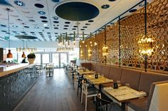 Harvey Nichols Fourth Floor Cafe   #interior #fitout by Cumberland Group   #luxury #restaurant #bespoke #joinery