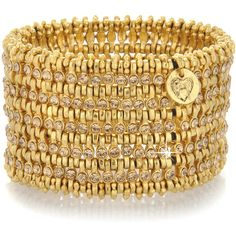 PHILIPPE AUDIBERT Golden Crystal Cuff (1.555 BRL) ❤ liked on Polyvore featuring jewelry, bracelets, accessories, bangles, cuff, golden jewellery, crystal bangles, cuff bangle, bangle bracelet and crystal jewelry