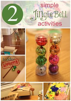 Two Simple Jingle Bell Activities...what child doesn't love to play with jingle bells this holiday season?!