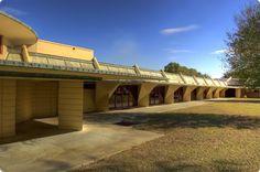 Florida Southern College. Frank Lloyd Wright. Lakeland, Florida. 1938-55