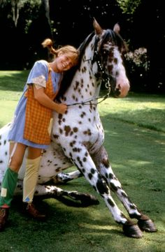 Pippi Longstocking with Horse.  The girl I wanted to be.  The girl I sometimes STILL want to be.  =o)