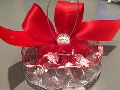 Pièce unique - Ange de Noël ou décoration - 3 jupes en rubans.