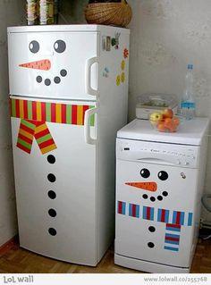 Fridge decoration for lovely winter season