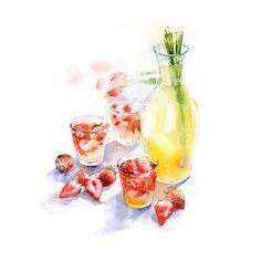 Лемонграсс и клубника