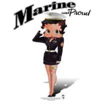 #bettyboop #popfunk  http://www.popfunk.com/mens-tees/betty-boop/boop-marine-boop.html