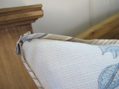 Throw pillow corner detail - Sherry Hart, Design Indulgence