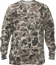 Drake Waterfowl® Camo Long Sleeve T-Shirt https://saffordsportinggoods.com/shop/clothing/drake-waterfowl-camo-long-sleeve-t-shirt/