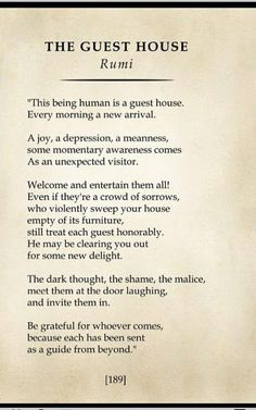 The Guest House Rumi, Rumi Quotes, Einstein, Mindfulness, Healing, Words, Consciousness, Horse