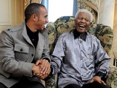 In his time, Nelson Mandela met the Queen for dinner, had a chin-wag with Fidel Castro, and shared an awkward hug with Michael Jackson. Anthony Hamilton, Lewis Hamilton, People Hugging, Jackie Stewart, Nelson Mandela, Love And Respect, Bury, Cristiano Ronaldo, Sports News