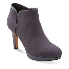 Delsie Stella Purple Grey Suede - Clarks Womens Shoes - Womens Heels and Flats - Clarks - Clarks® Shoes