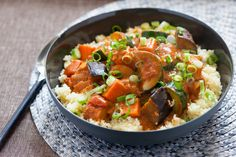 West African Vegetable & Peanut Stew over Couscous. Visit http://www.blueapron.com/ to receive the ingredients.