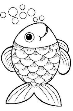 Farm Animal Coloring Pages For Preschool Fish Coloring Page, Animal Coloring Pages, Colouring Pages, Coloring Pages For Kids, Coloring Sheets, Coloring Books, Free Coloring, Adult Coloring, Art Drawings For Kids