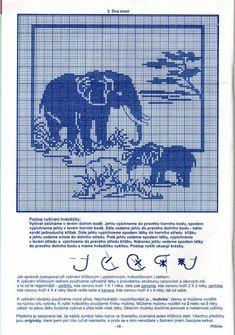 Gallery.ru / Фото #85 - Дикие животные (схемы) - Olgakam Filet Crochet Charts, Knitting Charts, Cross Stitch Charts, Cross Stitch Patterns, Crochet Patterns, Elephant Cross Stitch, Cross Stitch Animals, Motifs Blackwork, Diy Necklace Patterns