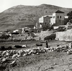 Nablus-نابلس: NABLUS - Late 19th, early 20th c. 42 - Edge of Mount Gerizim (Matson collection)