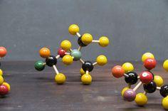 vintage student chemistry models