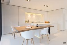 How To Incorporate Contemporary Style Kitchen Designs In Your Home Kitchen Room Design, Home Room Design, Modern Kitchen Design, Interior Design Kitchen, Kitchen Decor, Kitchen Ideas, Kitchen Island Dining Table, Kitchen Benches, Küchen Design