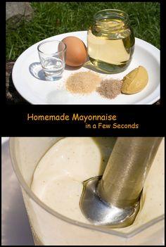 Selbstgemachte Mayonnaise mit dem Stabmixer – Mixer – Schneebesen hergestellt. Eine Schritt-für-Schritt-Anleitung. | http://www.easycookingrecipes.info/de