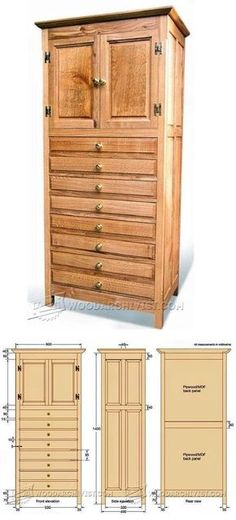 Tall Cabinet Plans - Furniture Plans and Projects | WoodArchivist.com