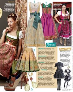 """Adds the certain something to any outfit - especially if you plan to wear a traditional Dirndl and attend the Oktoberfest - RosaRot's Madison-3 earth - as mentioned in """"Die Aktuelle"""""""