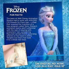 #DidYouKnow: Elsa has more hairs than Rapunzel?