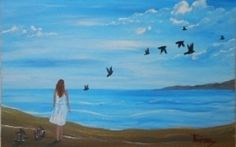 """Freedom - Acrylic Painting on Canvas for Beginners by Yannis Koutras """"KoutrasArt"""""""