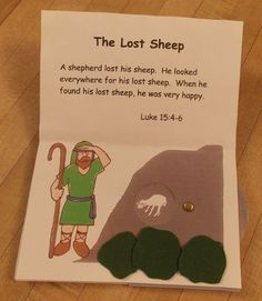Pop Up of the Lost Sheep Parable