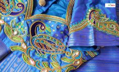 Exquisite custom hand-made embroidery on the blouse - tailor & embroidery - Orange Boutique in Malleswaram (Bangalore, India)
