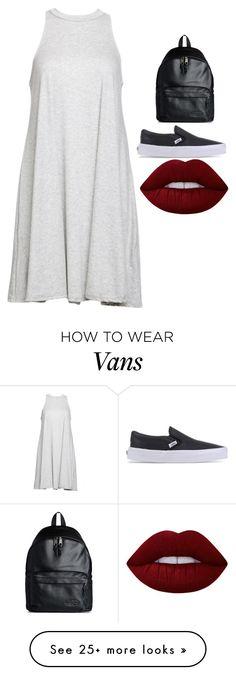 """Untitled #4897"" by adi-pollak on Polyvore featuring Eastpak, Vans, Babakul and Lime Crime"