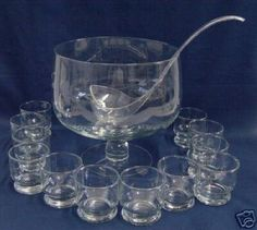 Princess House Hand blown Heritage Punch Bowl ~ This is the punch bowl ...