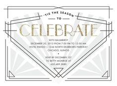 Art Deco Corporate Holiday Party Invitations at Tiny Prints