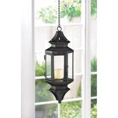 ON SALE!! Hanging Moroccan Lantern. Styled after the ancient Eastern lanterns, this pierced-metal pendant lamp brings an exotic dash of faraway mystery to your very own backyard.