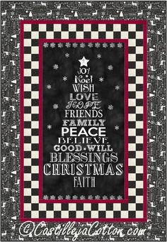 (7) Name: 'Quilting : Chalkboard Christmas Quilt Pattern 4911-