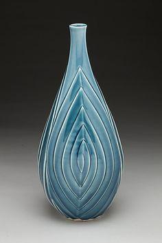 Blue Spiral Vase by Lynne Meade: Ceramic Vase available at www.artfulhome.com