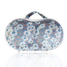 Portable Protect Bra Underwear Lingerie Case Bag Organizer Flower Print