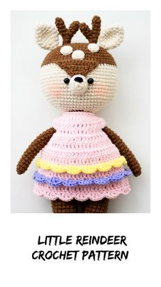 crochet-pattern-baby-deer-amigurumi-animal-crochet-toy-dress-etsy/ delivers online tools that help you to stay in control of your personal information and protect your online privacy. Crochet Doll Pattern, Crochet Patterns Amigurumi, Amigurumi Doll, Handmade Toys, Handmade Ideas, Etsy Handmade, Crochet Deer, Knitted Cat, Baby Patterns