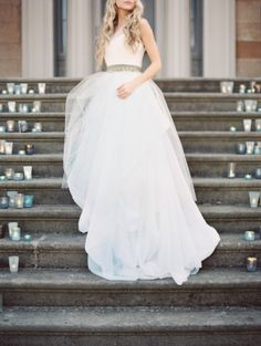 Fashion wedding dress: http://www.stylemepretty.com/2014/08/07/natural-spring-wedding-inspiration/ | Photography: When He Found Her - http://whenhefoundher.com/