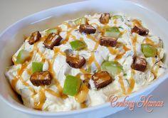 Caramel snickers apple salad