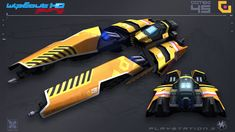 Goteki45 (Concept) - PlayStation3 In game model WipEout HD is the first entry in the series on the Playstation 3. The game is largely a high-definition remake of past elements from the WipEout seri...
