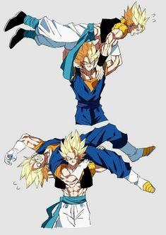 Dragon Ball Gt, Goku Drawing, Goku Y Vegeta, Gogeta And Vegito, Funny Dragon, Ssj3, Fusion Art, Dbz Characters, Cool Dragons