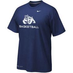 Fresno State Bulldogs Nike Basketball Legend Practice Performance T-Shirt – Navy Blue - $29.99