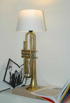 A Trumpet table lamp