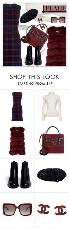 """Check It: Plaid"" by spenderellastyle ❤ liked on Polyvore featuring 10 Crosby Derek Lam, HUGO, Cara Mila, Les Petits Joueurs, Ash, STELLA McCARTNEY, Chanel and plaid"