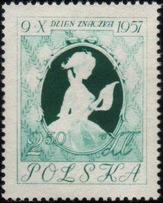 Znaczek: Girl writing letter (Polska) (Stamp Day) Mi:PL 1030,Sn:PL 790,Pol:PL 885