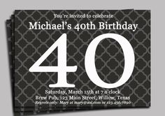 40th birthday invitation wording funny party ideas for kids milestone birthday invitation 20 30 40 50 60 80 by thatpartychick 1500 filmwisefo