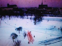 2. Józef Hałas, Malarstwo na śniegu, 1970