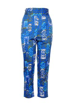 Cropped Trousers in 1960s Tiki Print