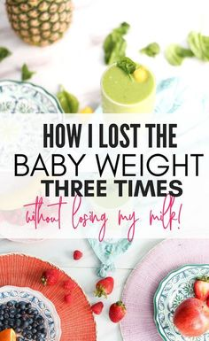 Losing the baby weight three times is crazy! I love how she did it because it is totally relate able, and I am gonna try her program to get started! Postpartum Care, Postpartum Recovery, Lactation Recipes, After Baby, Pregnant Mom, Breastfeeding Tips, Pregnancy Tips, Post Pregnancy Diet, Baby Time
