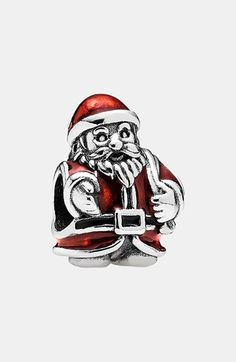 PANDORA '12 Days of Christmas - Day 11 St. Nick' Bead Charm available at #Nordstrom