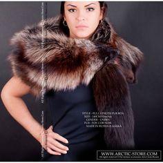 Taxidermic fur boa - brown fox collar / arctic-store